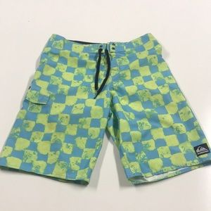 QUICKSILVER Mens 29 Blue Green Board Shorts Swim